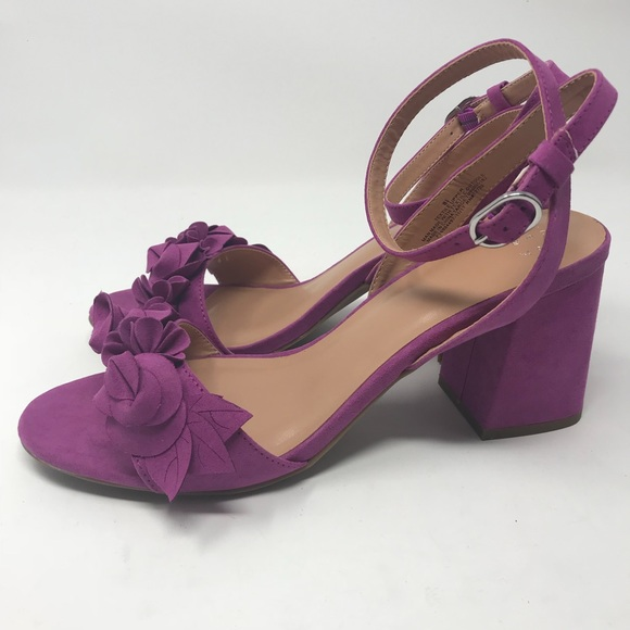 47f35a88cdac a new day Shoes - A New Day Nichelle Floral Block Heel Orchid